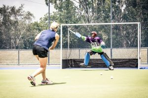 Goalkeeper training hockey