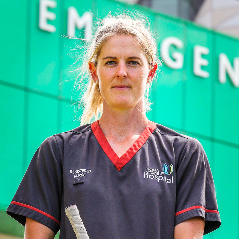 Rachael Lynch - From stopping shots on the pitch to saving lives during COVID-19
